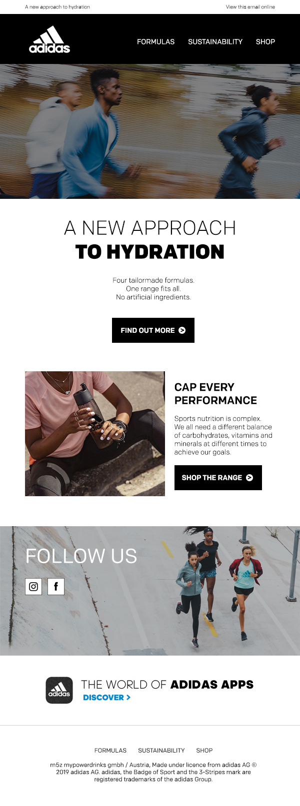 Adidas HTML email template