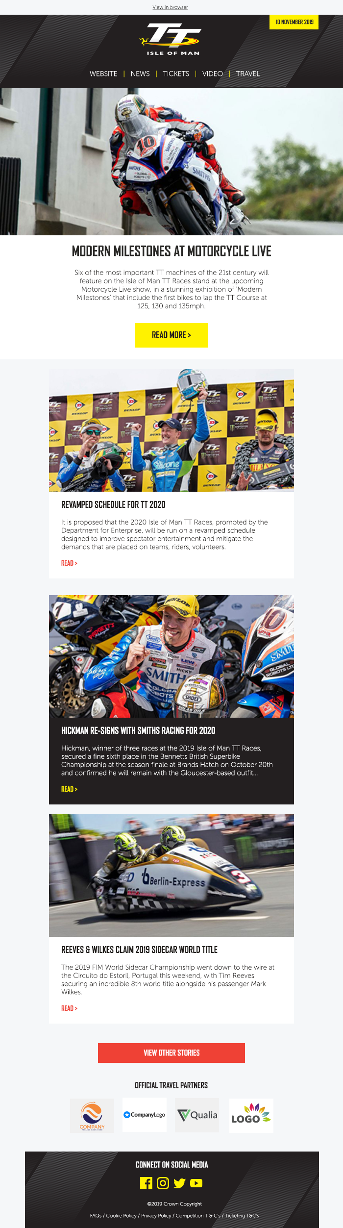 IOMTT racing email template