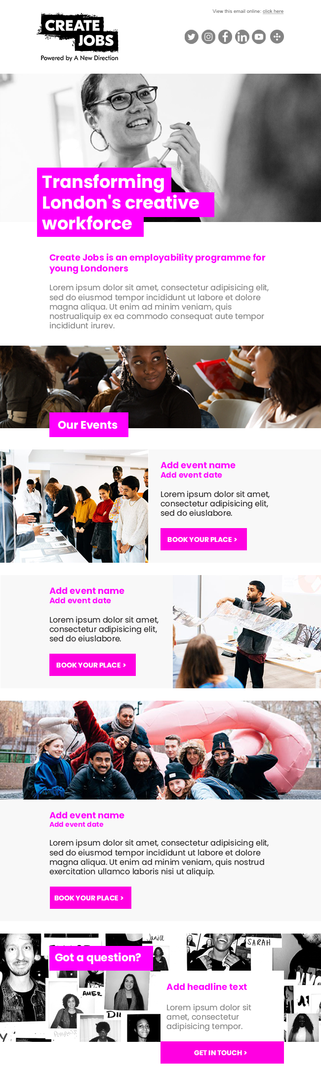 Create Jobs HTML Template